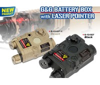 G&G PEQ Battery Box w/ Laser Sight BLACK