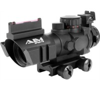 AIM sports Illuminated Tactical Combat Scope with Fiber Optic